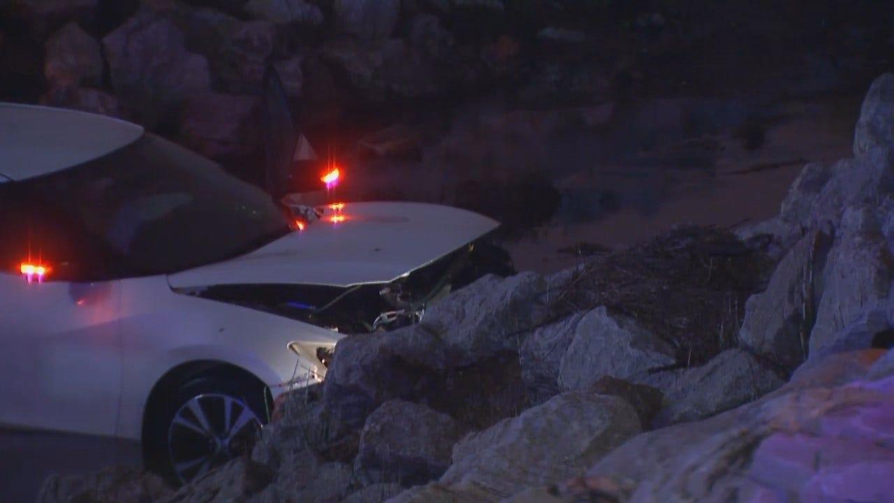 WEB EXTRA: Video Of Scene Where Driver Found Dead