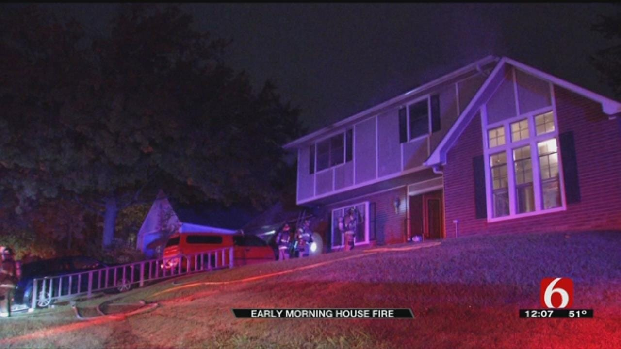 Woman, 2 Dogs Escape Tulsa House Fire