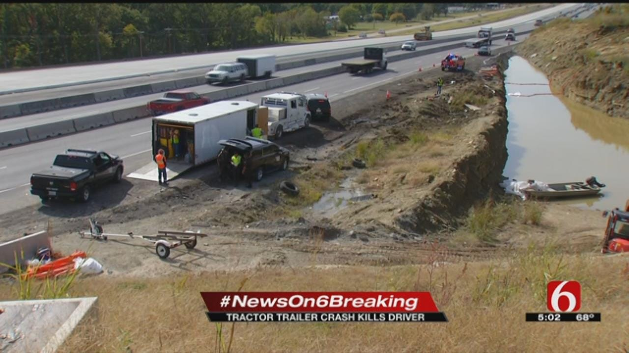 Tow Truck Driver Dies In Crash On Turner Turnpike Near Kellyville