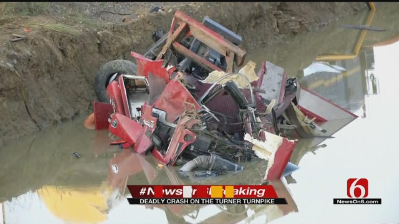 Driver Dead After Crash On Westbound Turner Turnpike Near Kellyville