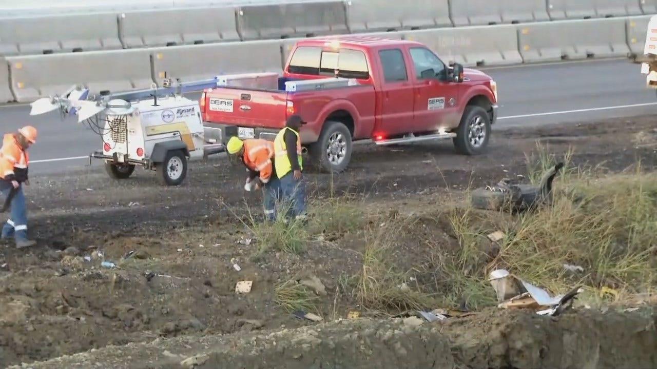 WEB EXTRA: Video From Wrecker Crash On Turner Turnpike Crash