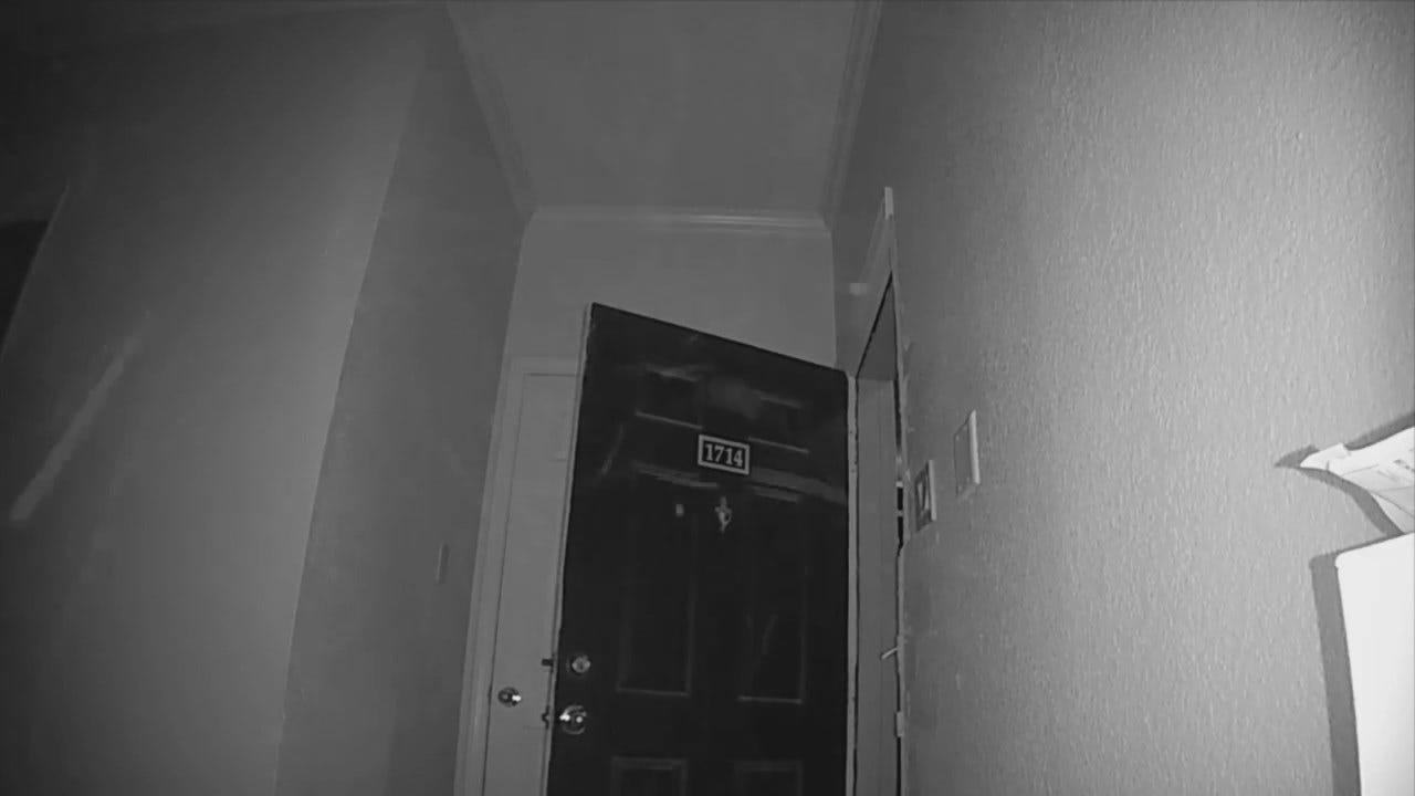 WEB EXTRA: Apartment Surveillance Video Of Tulsa Burglary
