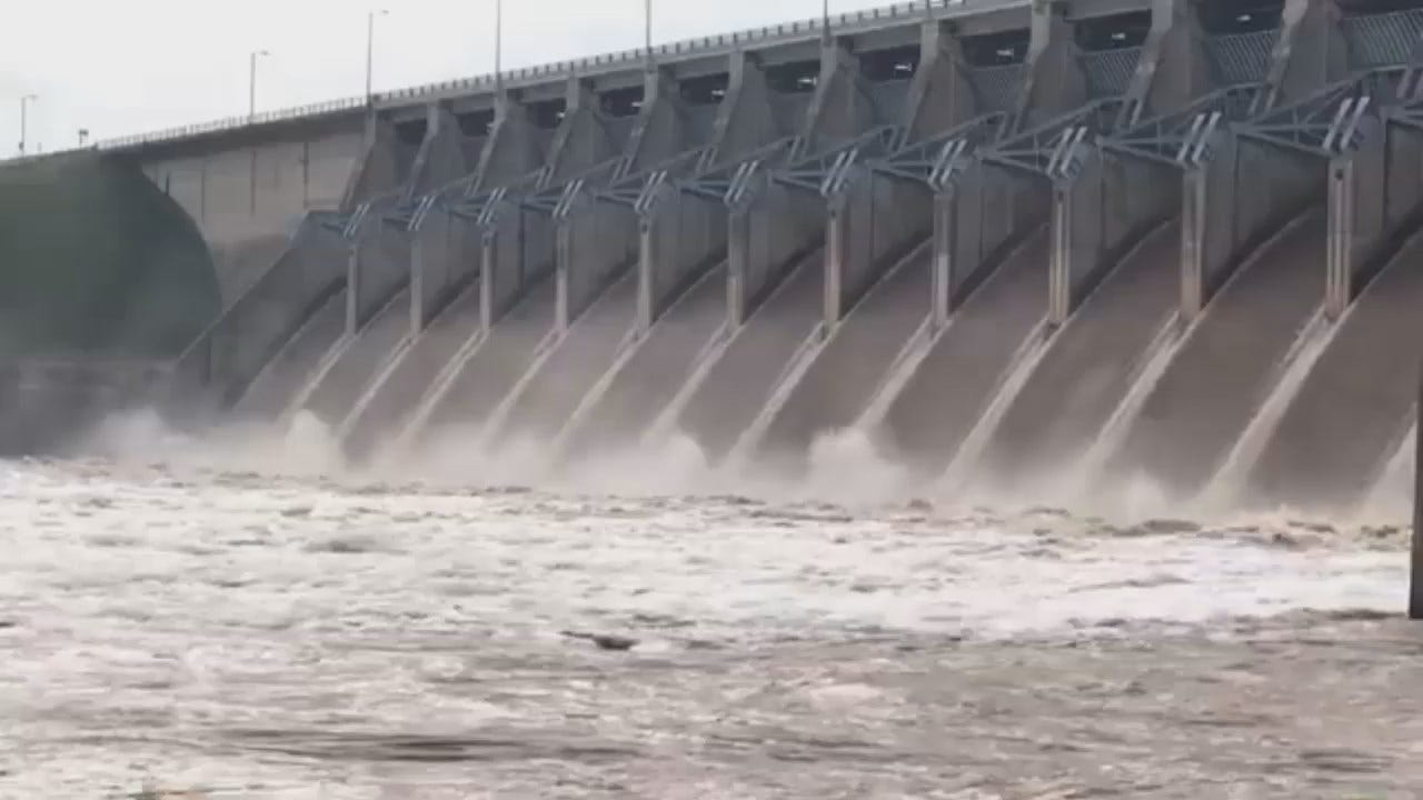 WEB EXTRA: Corps Of Engineers Video Of Water Release From Keystone Dam