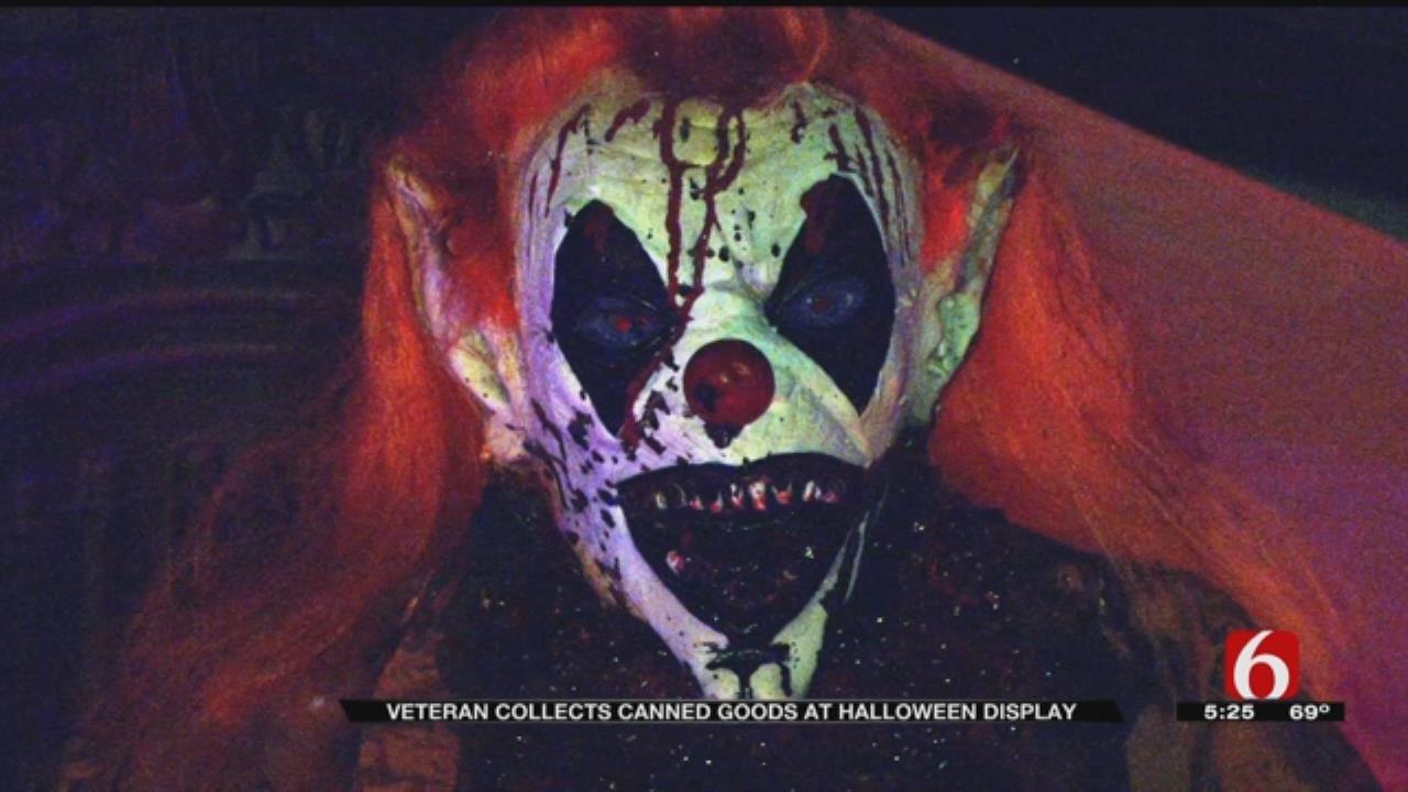 Glenpool Veteran's Halloween Display Serves A Special Purpose