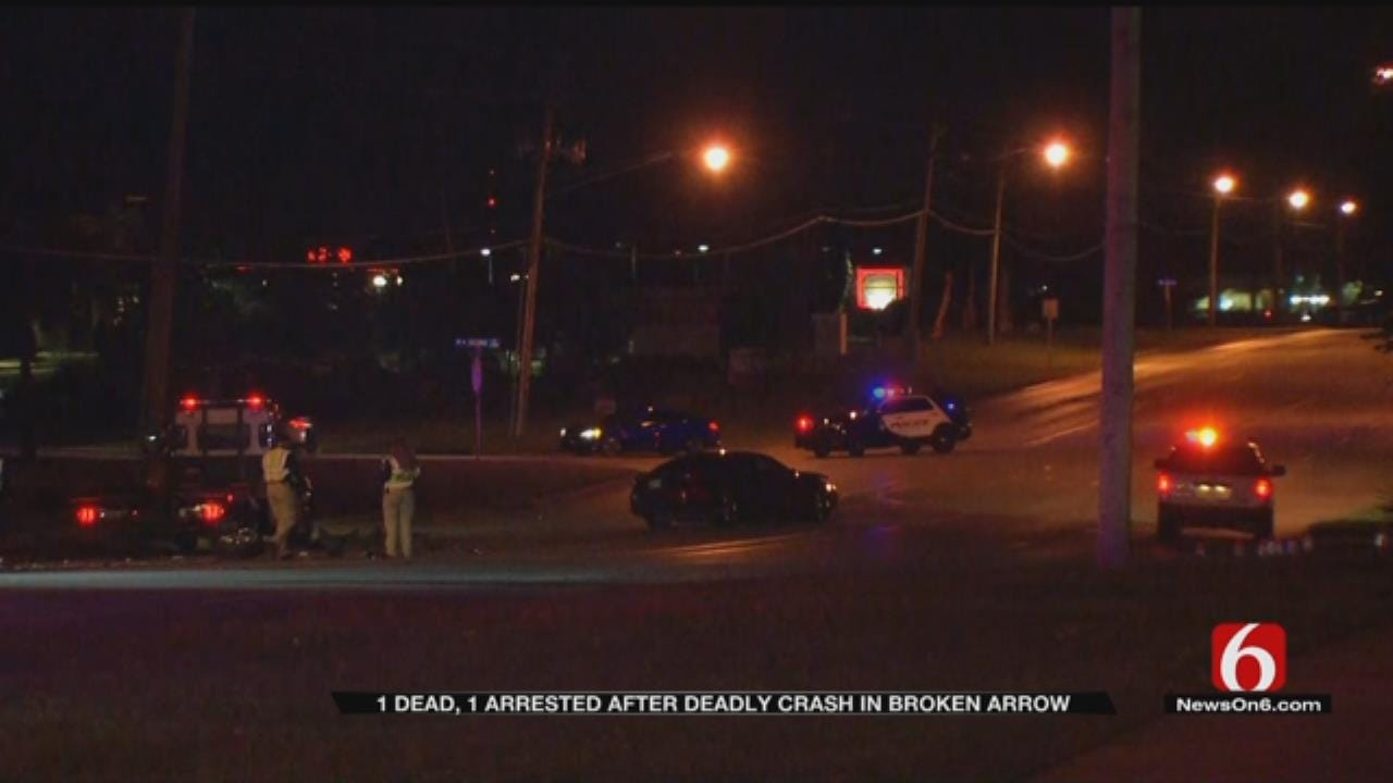 One Dead, One Arrested After Crash In Broken Arrow