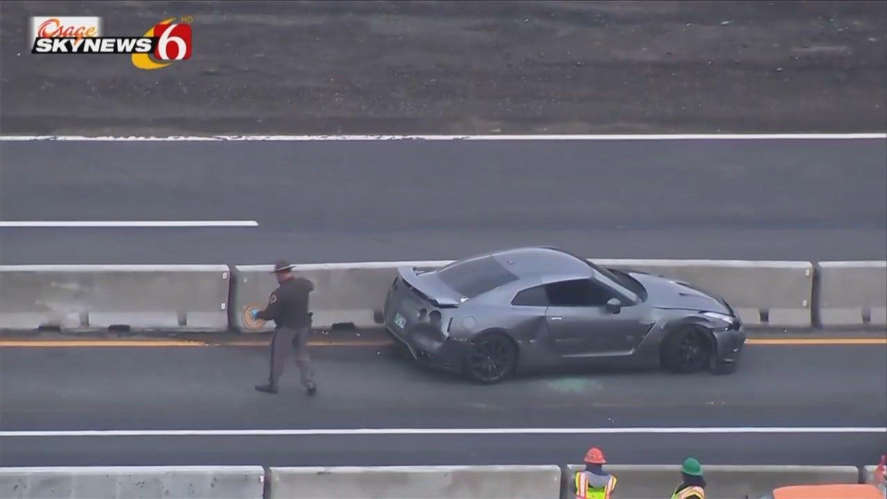 Osage SkyNews 6 HD: Stolen Nissan GT-R Wrecked On Turner Turnpike