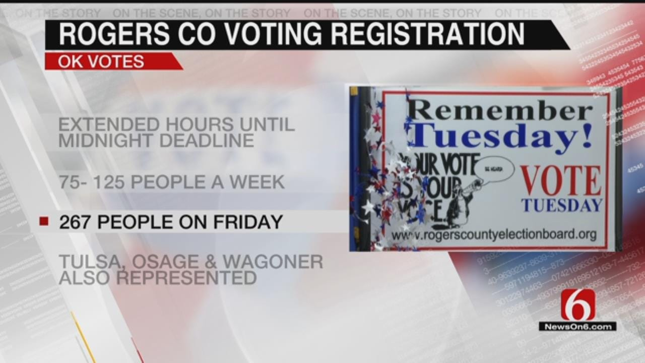 Rogers Co. Election Board Claims Record Number Of Voters Registered Before Deadline