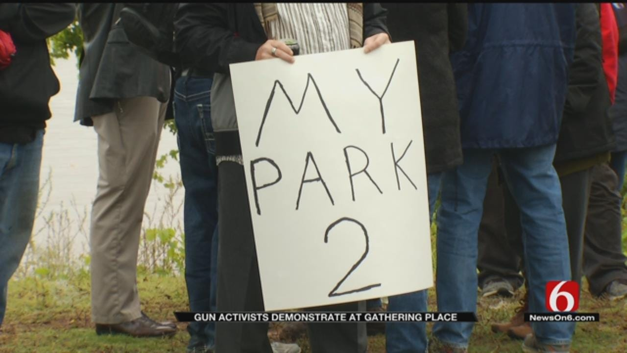 Gun Rights Activists Hold Rally In Tulsa's Gathering Place