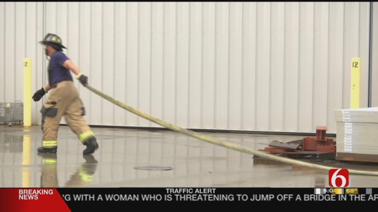 Broken Arrow Firefighters Put Out Blazing Torch Bottles