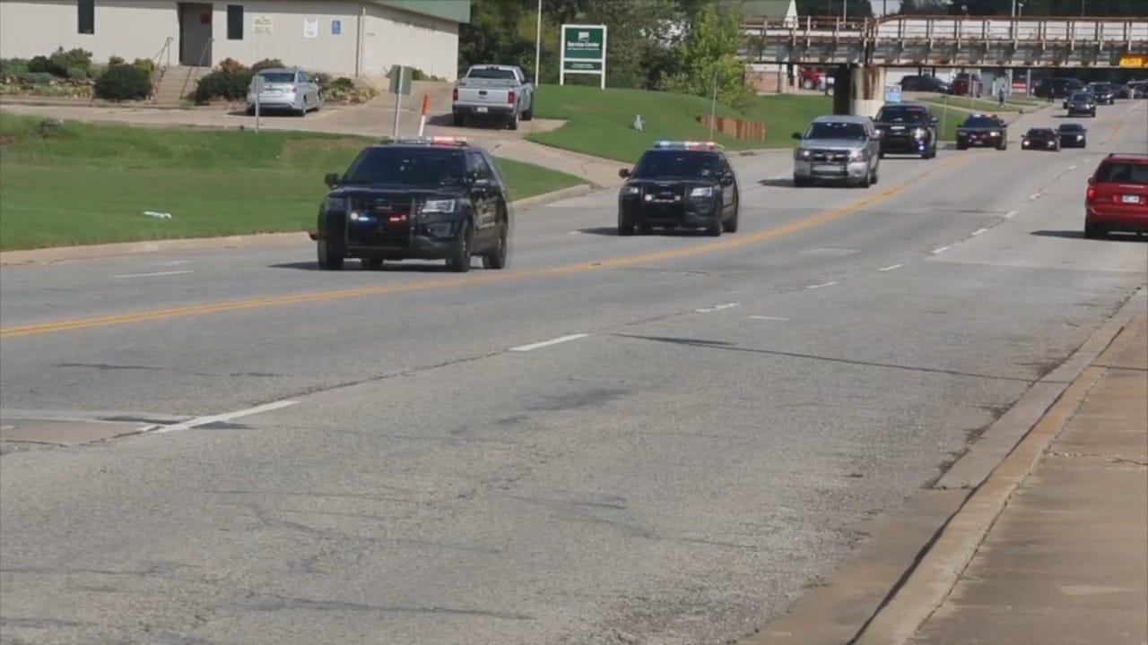 WEB EXTRA: Law Enforcement Escort Video Courtesy Of Okmulgee Times