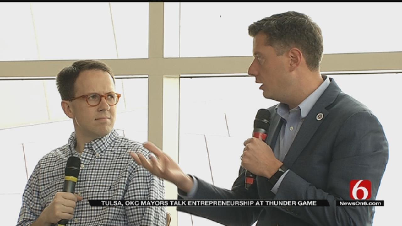 Tulsa, OKC Mayors Talk Entrepreneurship Before OKC Thunder Game