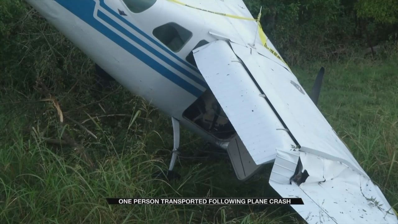 OHP: Pilot Suffers Cut On Head When Airplane Crashes In Wagoner Co.