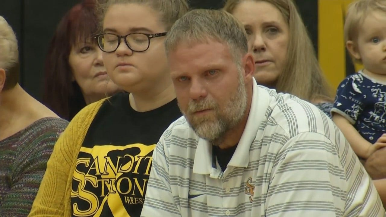 Prayer Rally Held For Sand Springs High School Football Coach