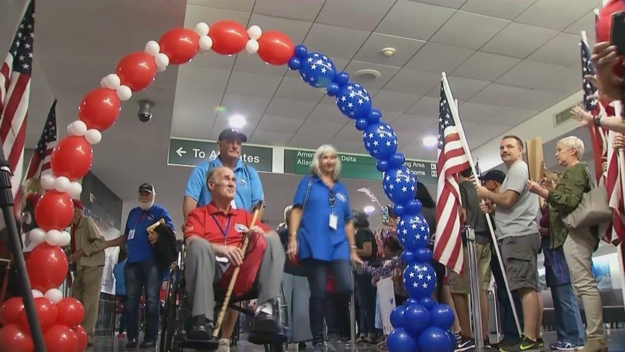73 Veterans Return To Tulsa Aboard Oklahoma Warriors Honor Flight