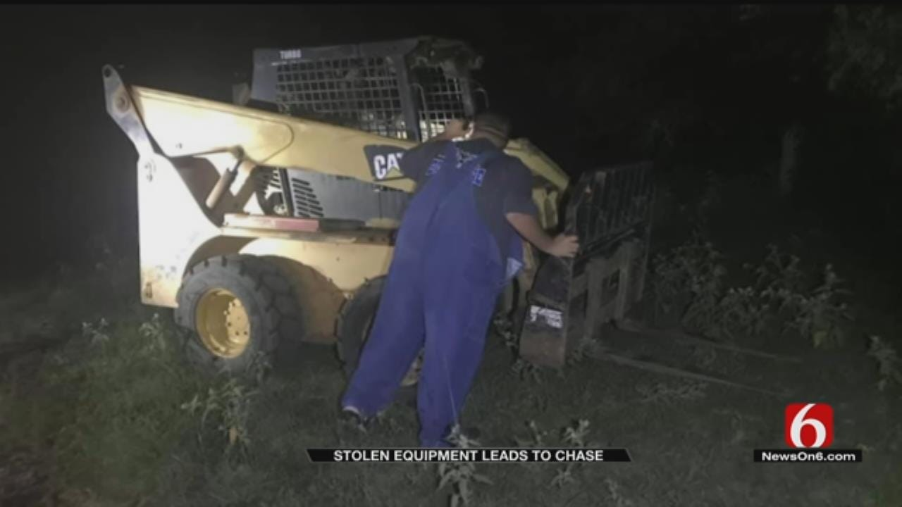 Haskell County Deputies Chase Thieves Hauling Stolen Equipment