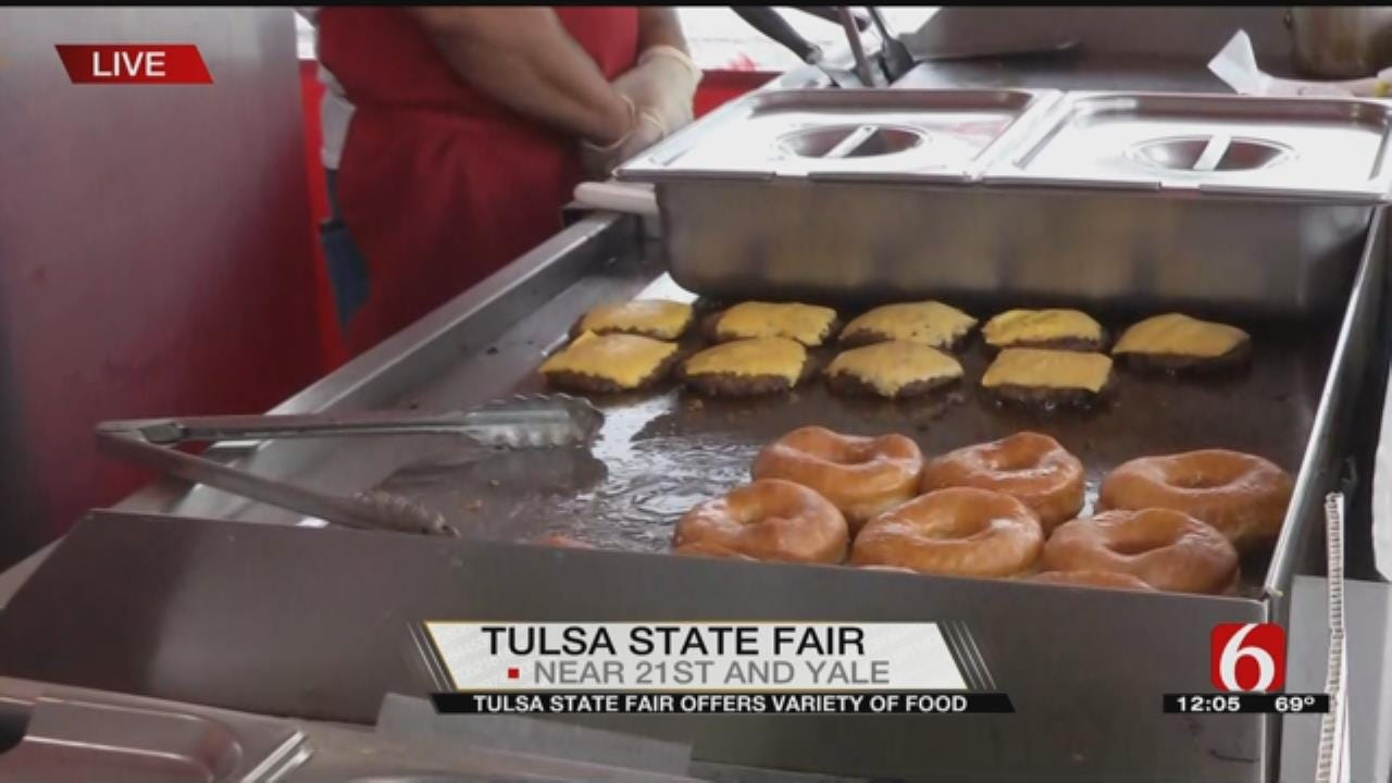 Julia Benbrook Checks Out A Grilled Cheese Donut At The Tulsa State Fair