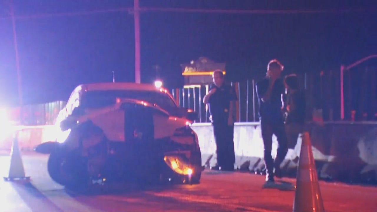 WEB EXTRA: Video From Scene Of Sand Springs Highway Car Crash