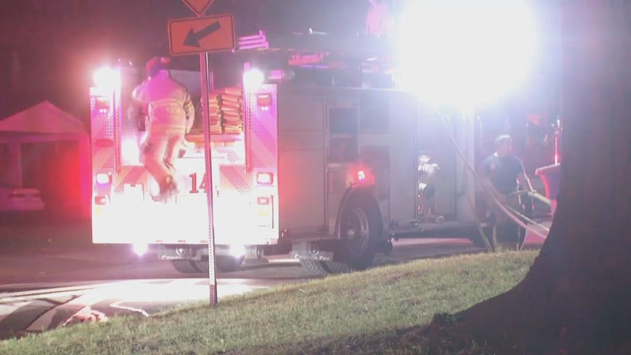 WEB EXTRA: Video From Scene Of Tulsa Friday Morning House Fire