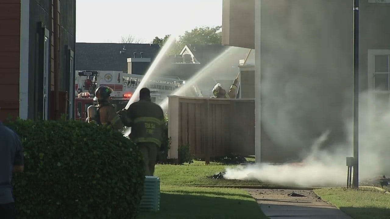 WEB EXTRA: Video From Scene Of Tulsa Apartment Complex Fire