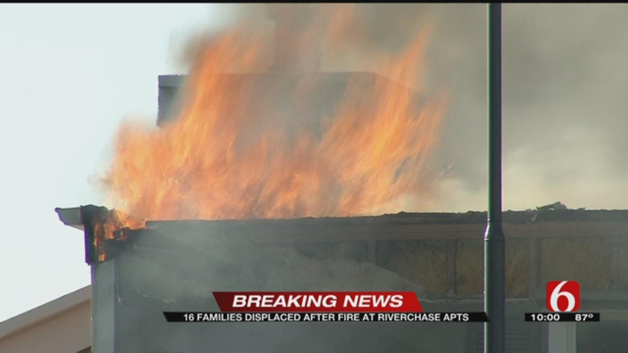 Fire Tears Through Tulsa Apartment Building, Investigators Searching For Cause