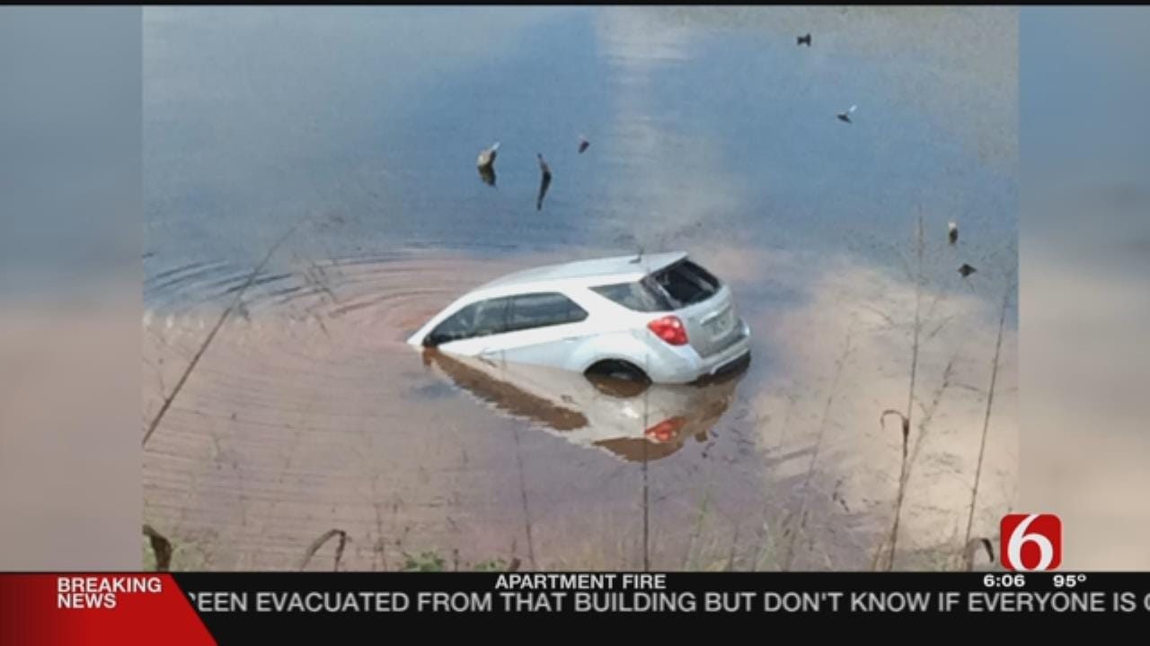 OHP Trooper, Turnpike Workers Rescue Woman & Infant From Submerged Car