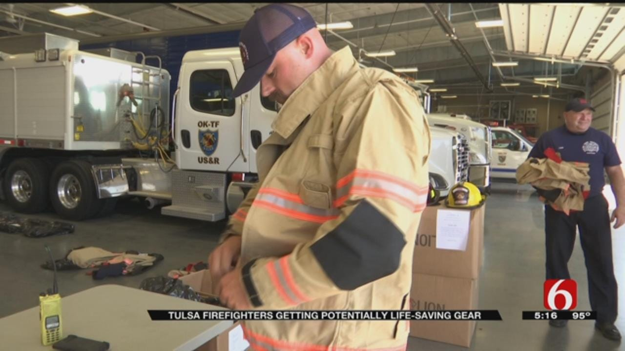 Tulsa Firefighters Receive New Gear To Limit Exposure To Toxins