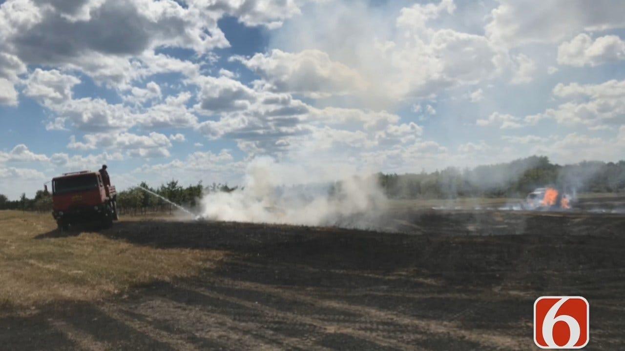 Emory Bryan: Overheated Farm Equipment Starts Inola Grass Fire
