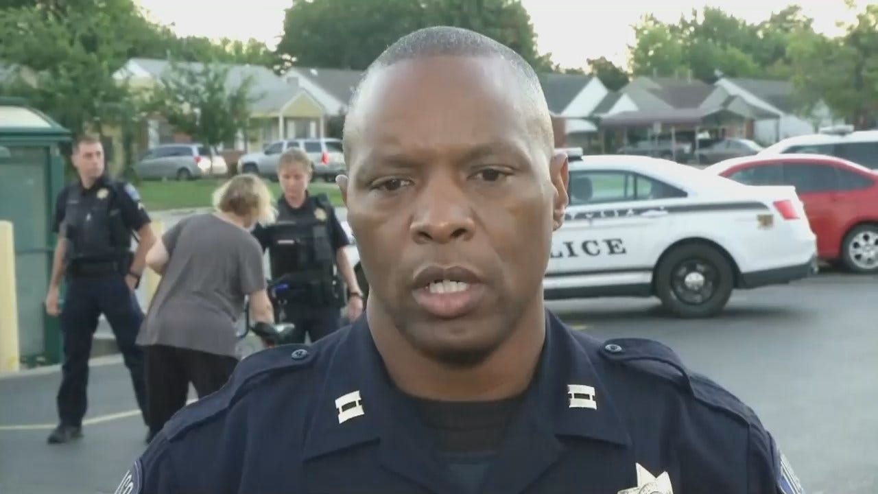 Tulsa Police Captain Malcolm Williams Talks About Bicycle-Pickup Crash