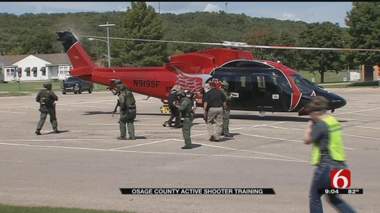 Osage County Uses Helicopter for Active Shooter Training