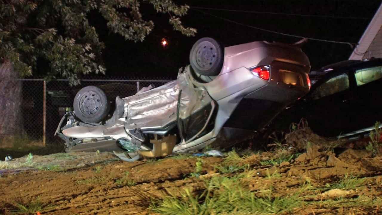 WEB EXTRA: Car That Led Police On Chase Crashes Into Innocent Driver