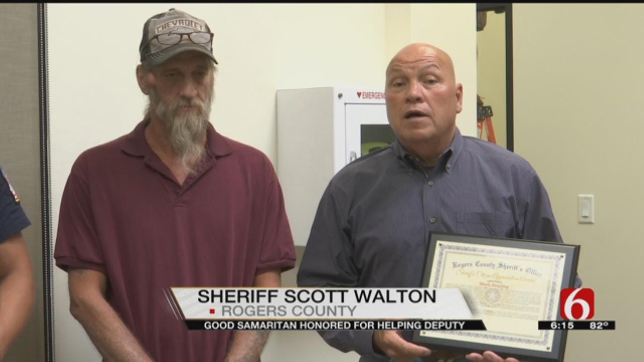 Rogers County Man Recognized After Helping Deputies Make Arrest