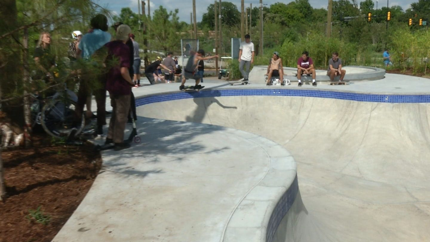 Skate Park At Tulsa's Gathering Place Has Pros And Amateurs Excited