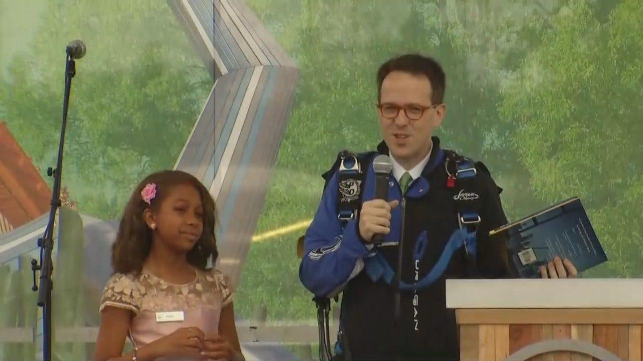 Tulsa Mayor G.T. Bynum At Gathering Place Grand Opening