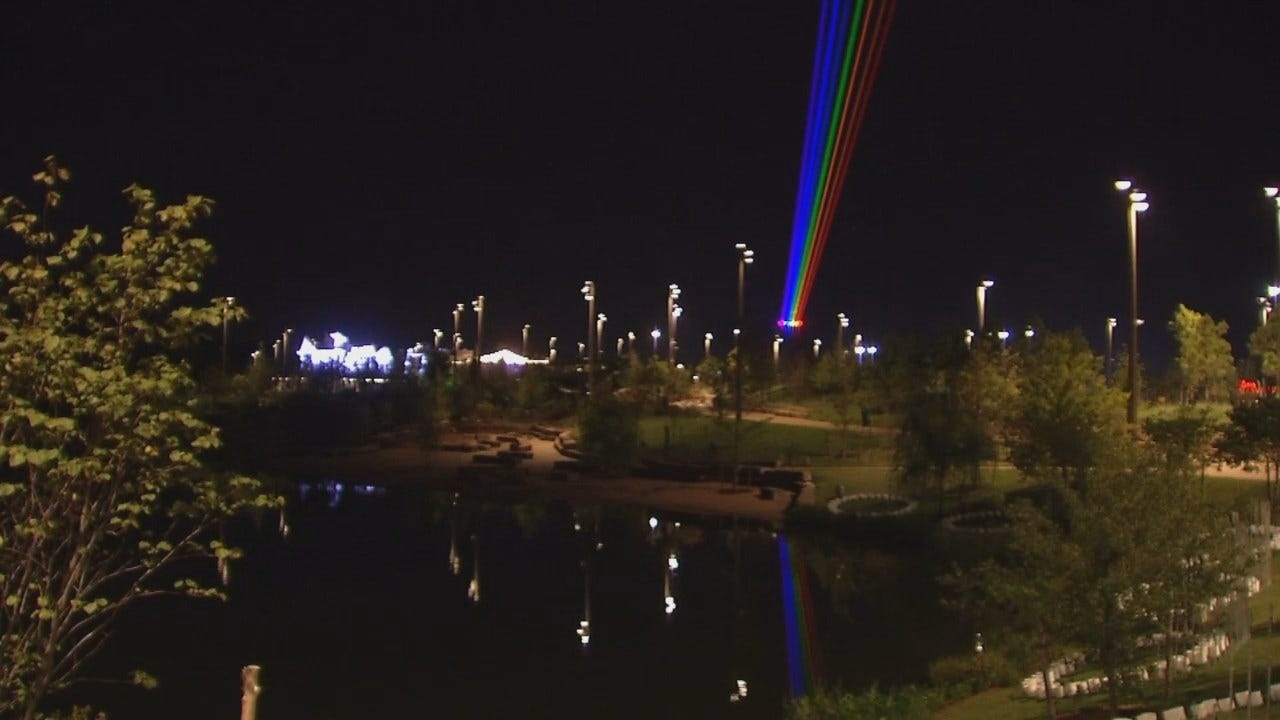 WEB EXTRA: Rainbow Of Lights Over Tulsa's Gathering Place