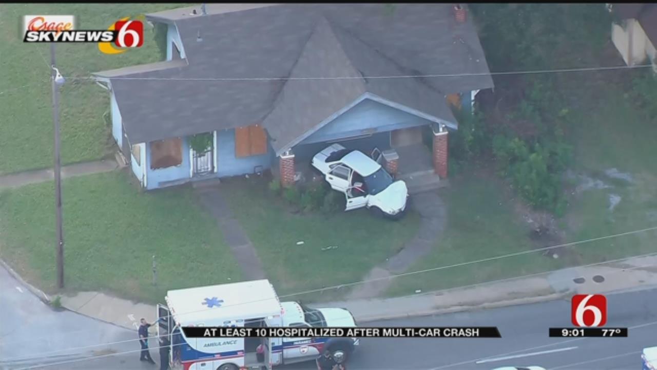 Multi-Car Crash Near MLK and Pine in Tulsa