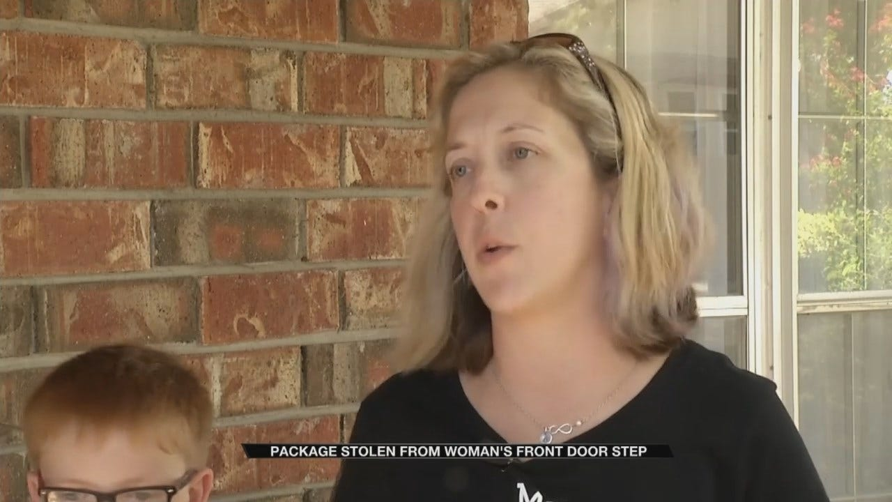 Tulsa Woman Says Teen Stole Package From Her Porch
