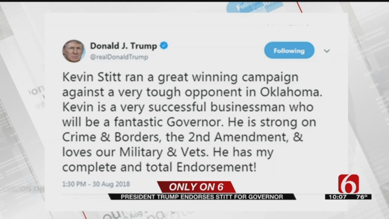 Trump Tweets Support For Stitt