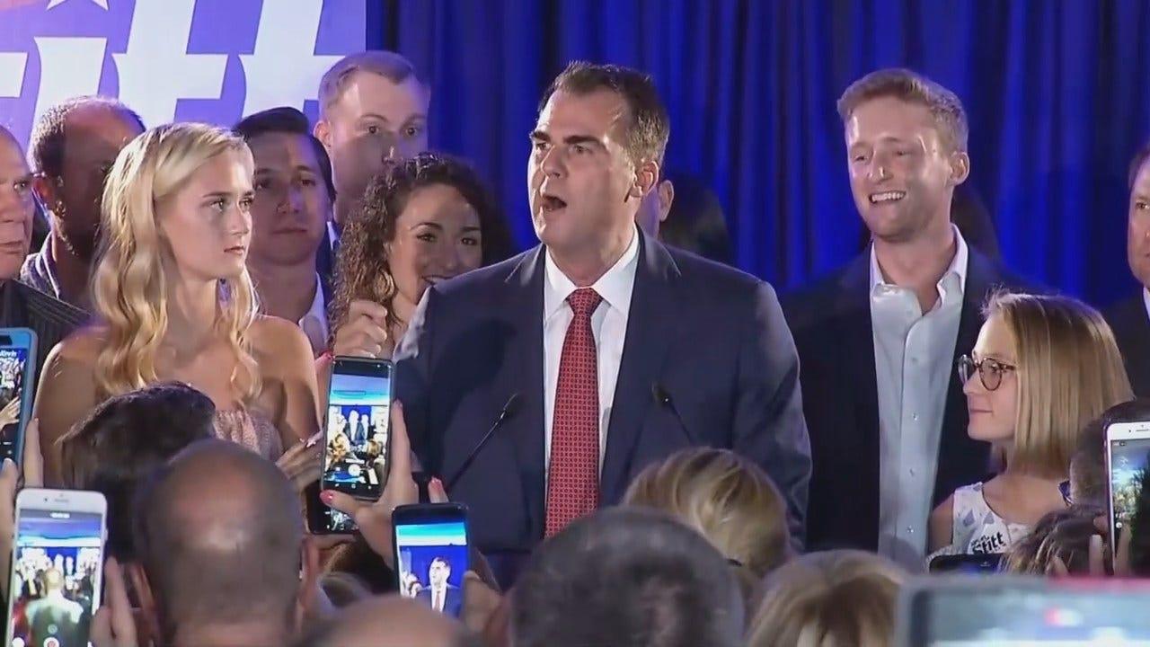 Stitt Delivers Victory Speech After Winning GOP Runoff