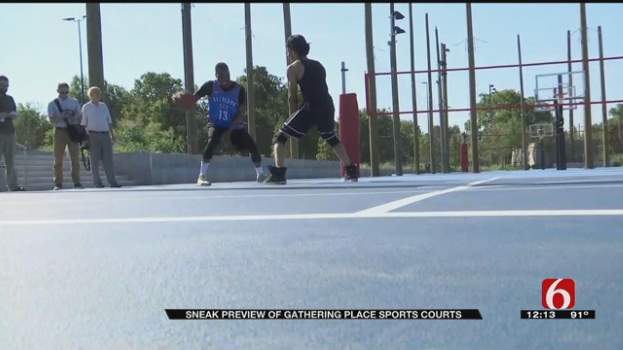 Get A First Look At Gathering Place Sports Courts