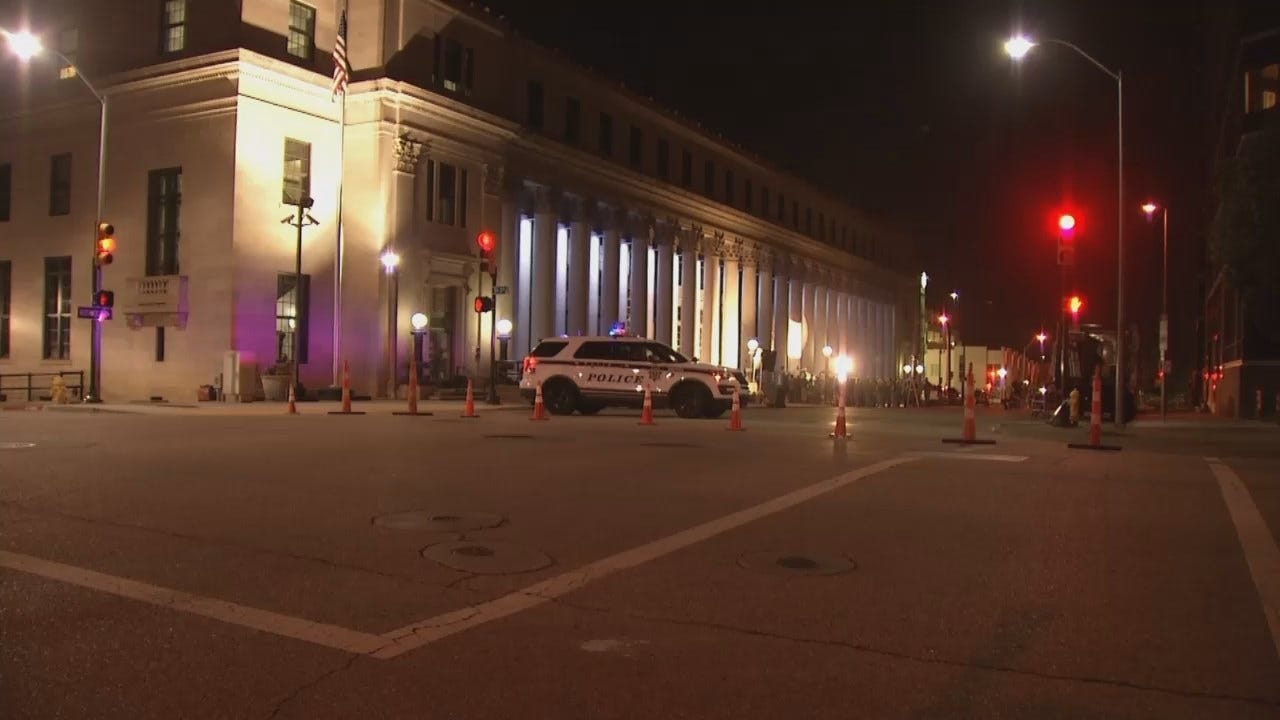 WEB EXTRA: Video From Tulsa Movie Shoot Early Friday