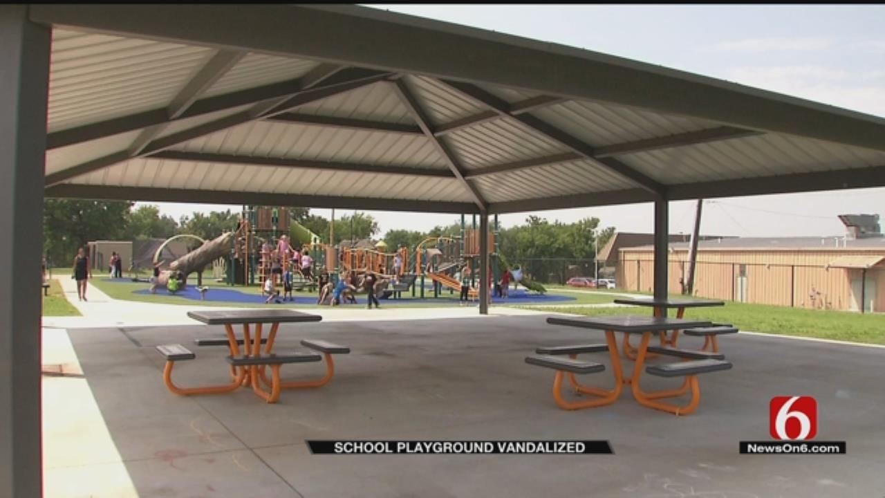 Vandals Deface New Coweta School Playground