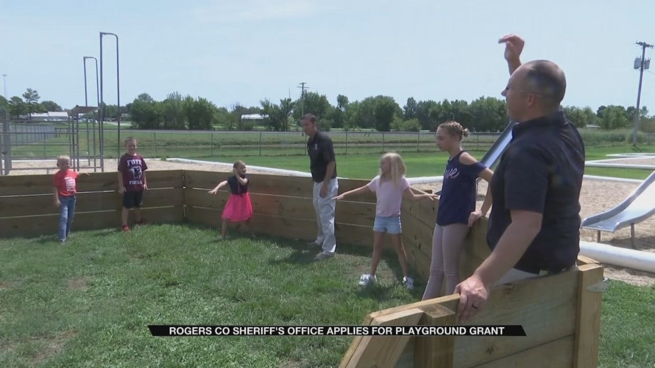 Rogers County Sheriff's Office Introduces New Playground Game To Foyil Elementary