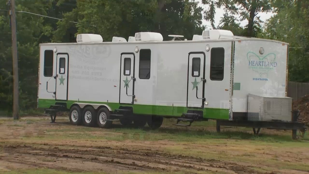 WEB EXTRA: Video Of Film Production Trailers In Downtown Tulsa