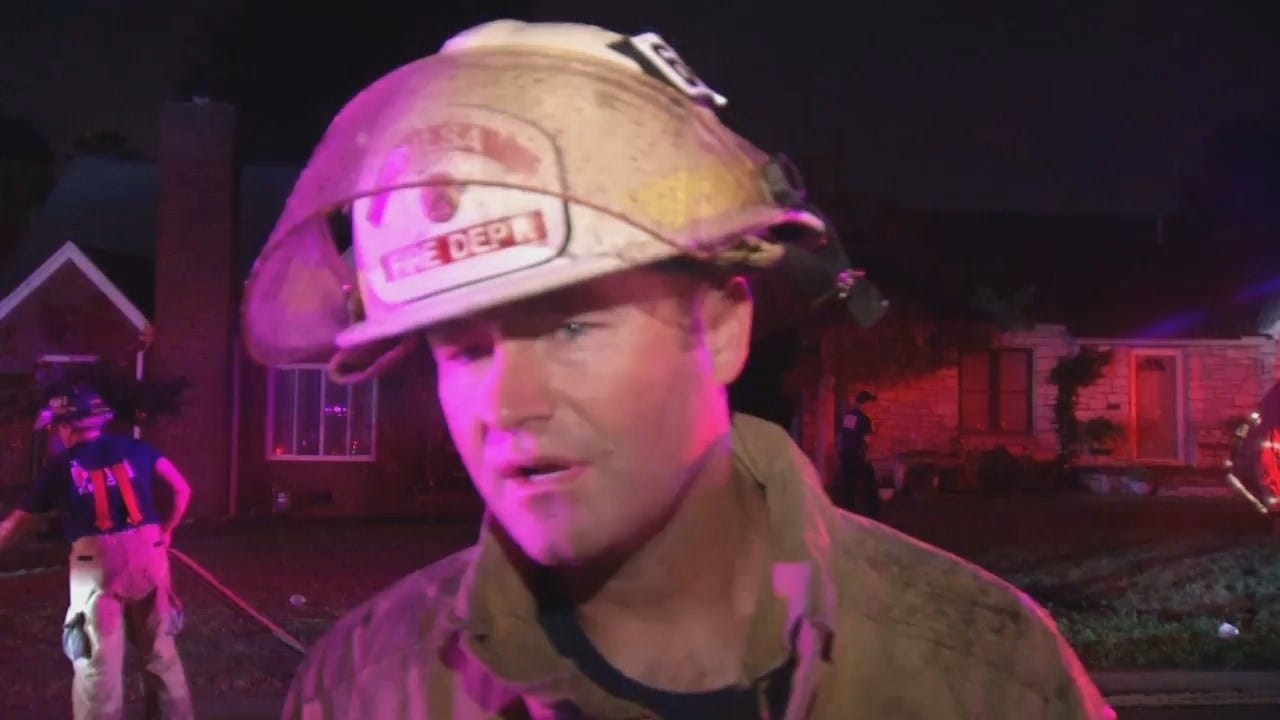 WEB EXTRA: Tulsa Fire District Chief Jason Gilkison Talks About House Fire