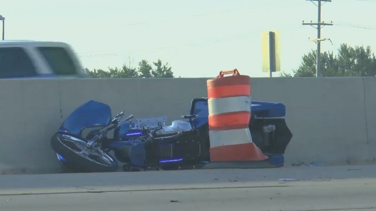 WEB EXTRA: Video From Scene Of Tulsa Highway Motorcycle Crash