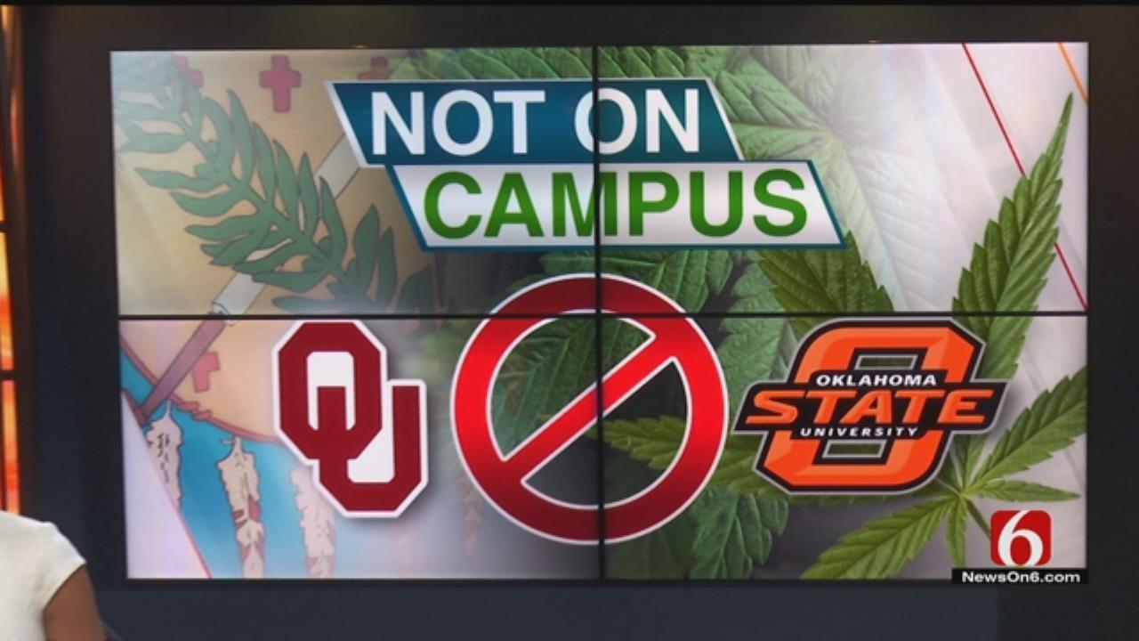 OU, OSU: No Medical Marijuana On Campus