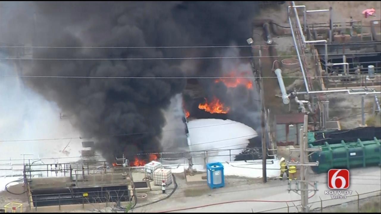 Osage SkyNews 6 HD: Fire At Tulsa Refinery