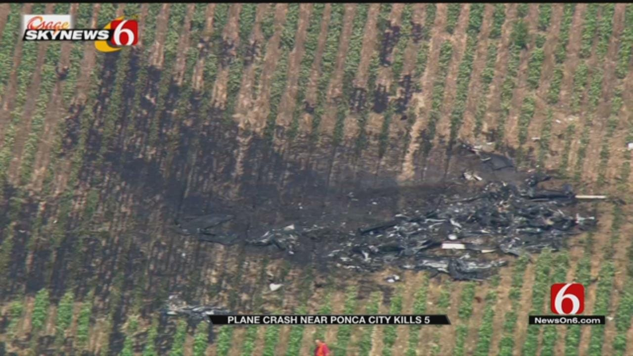 OHP: At Least 5 Confirmed Dead In Fiery Plane Crash Near Ponca City