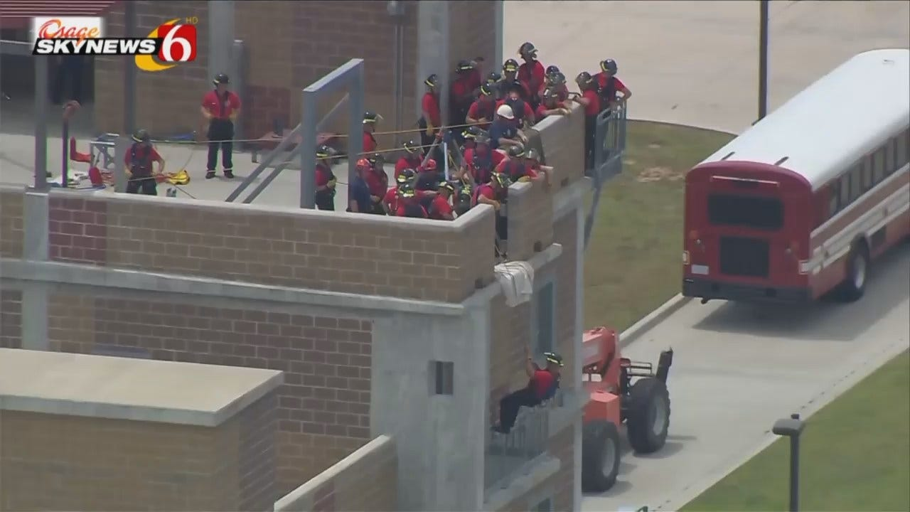 Osage SkyNews 6 HD: Tulsa Fire Cadets Training Exercise