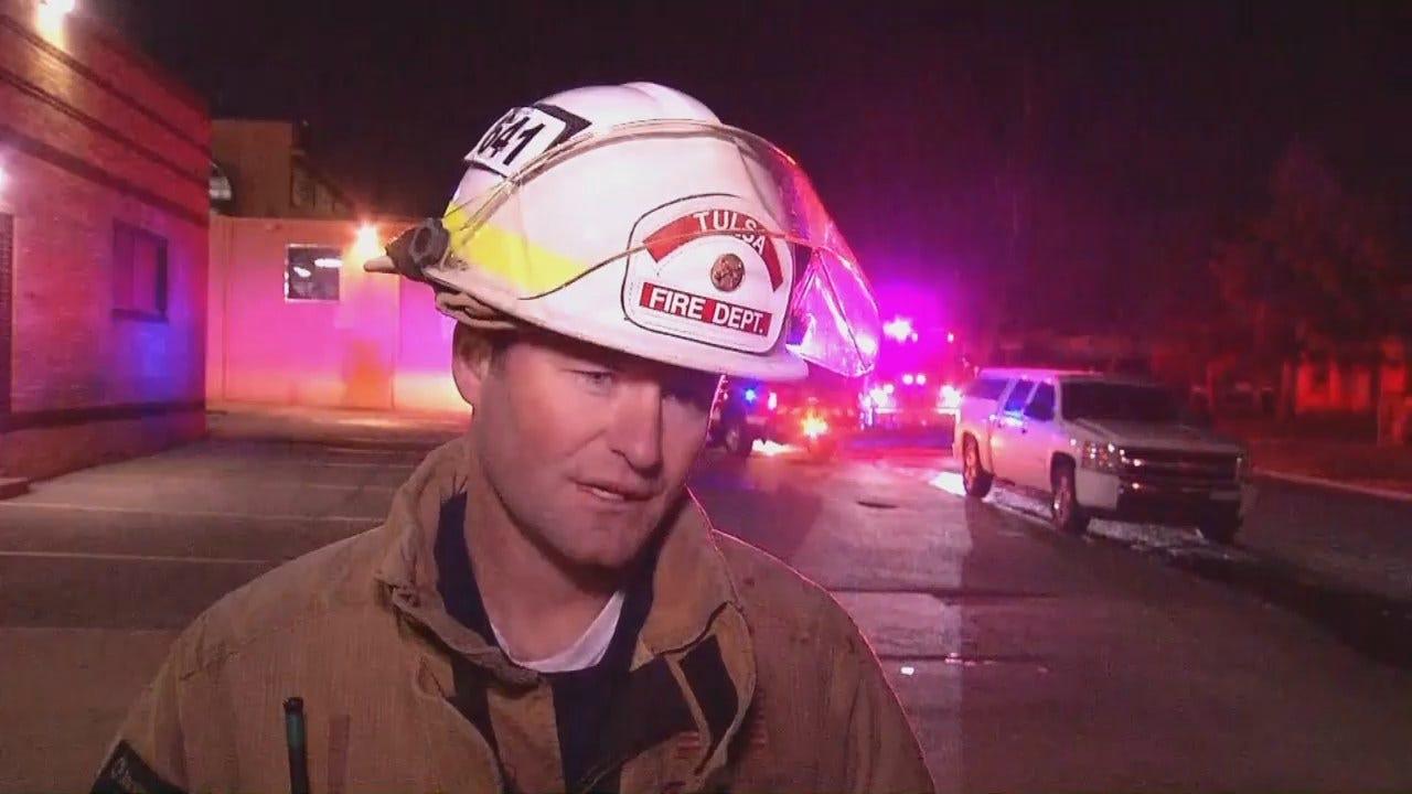 WEB EXTRA: Tulsa Fire Captain Jason Gilkison Talks About The Fire